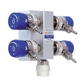Druckminderer Multistar 4-fach Flowregler, 0-25 LTR