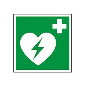 Rettungszeichen Defibrillatorstandort