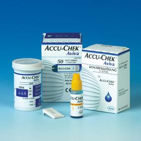 Kontrolllösung und Teststreifen von Roche